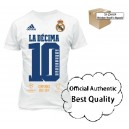 Official Authentic Real Madrid La Décima T-Shirt, Adidas, White, In Stock