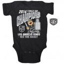 Los Angeles Kings Old Time Hockey Newborn/Infant 2014 Stanley Cup Champions Fredon Creeper - Black