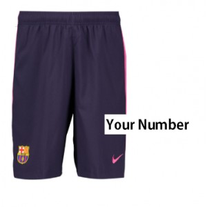 00f5ec642 Official authentic FC Barcelona Shorts 2016 17 Your Number