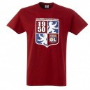 Official Authentic Olympique Lyon T-Shirt, Red, Kids