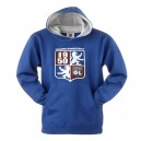 Official Authentic Olympique Lyon Hoody, Blue, Kids