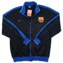 Nike jacket with a collar FC Barcelona, black-blue