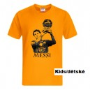 FC Barcelona T-Shirt, Leo Messi, Gold Style, Kids