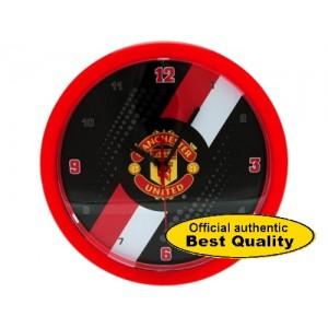 Oficiální autentické hodiny na zeď Manchester United Black