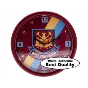 Oficiální autentické hodiny na zeď West Ham United, Claret