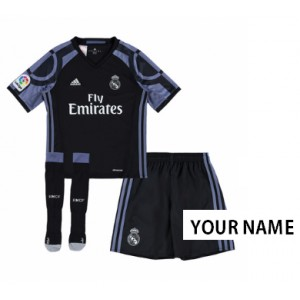 Oficiální dětský Third dres Real Madrid, vlastní jméno 2016/17